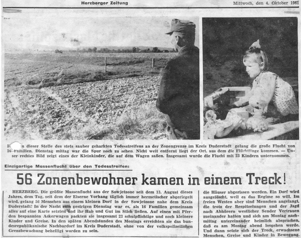 """Film und Gespräch: """"Massenflucht von Böseckendorf"""""""